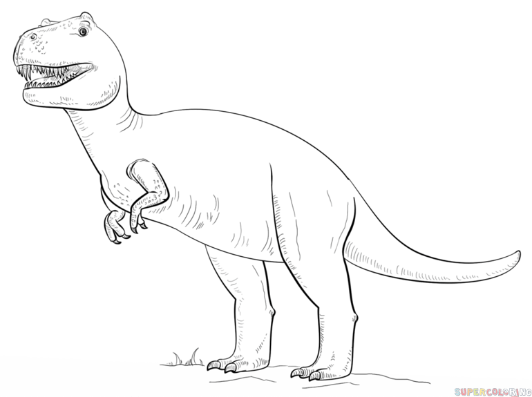 770x575 How To Draw Tyrannosaurus Rex Step By Step. Doodles