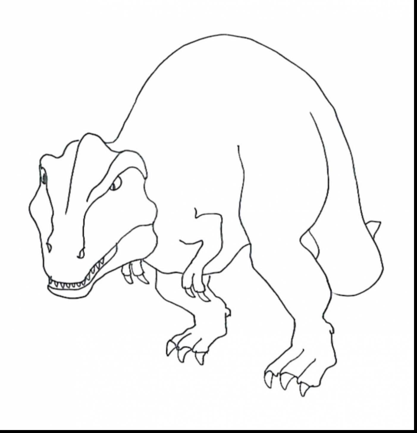 1402x1454 Good T Rex Coloring Page
