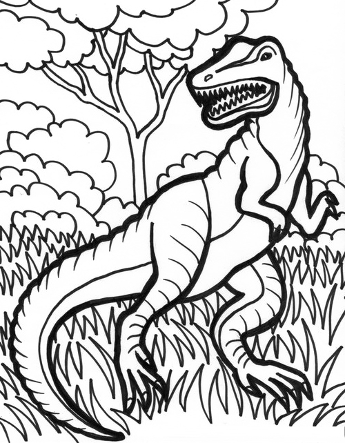 500x642 T Rex Dinosaurus Coloring Pages