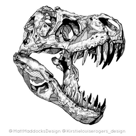 564x564 T Rex Skull By Ashley Dadoun Ashdoun's Art Tattoo