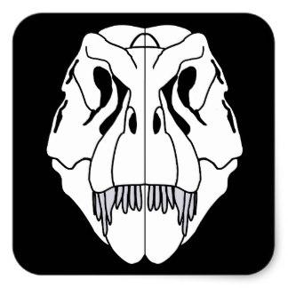 324x324 Tyrannosaurus Rex Skull Stickers Zazzle