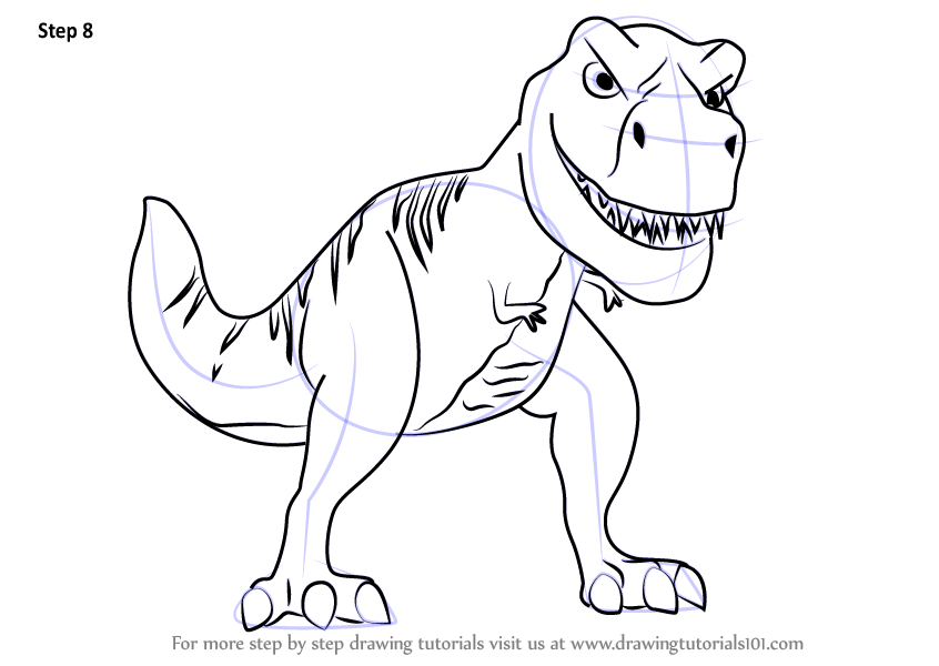 846x600 Learn How To Draw Tiny T Rex From Meet Robinsons (Meet
