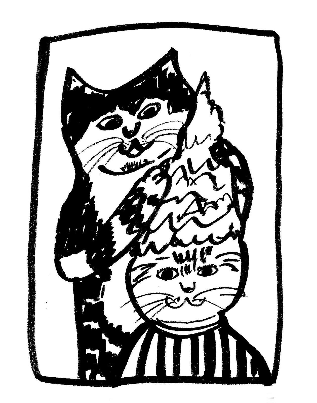 1260x1600 T Shirt Design Drawing. Cat Beauty Salon