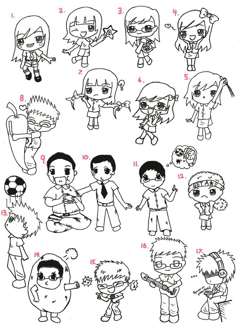 764x1045 Chibi School T Shirt Design By Xiiiobsessed