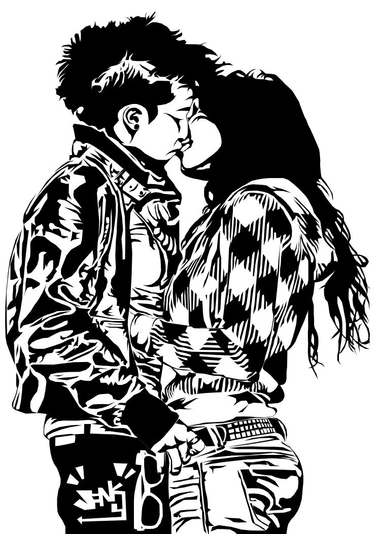 745x1053 Lesbian Kiss T Shirt Design By Jankycc