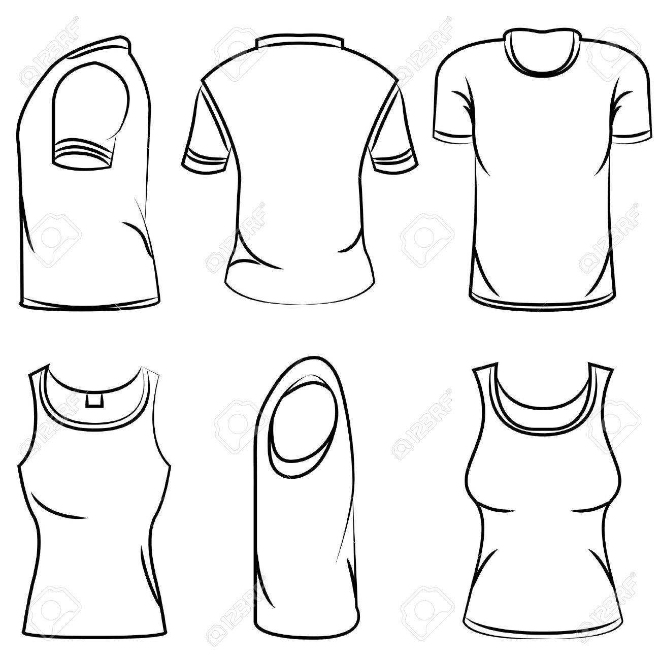 1300x1300 Sketch T Shirt Royalty Free Cliparts, Vectors, And Stock