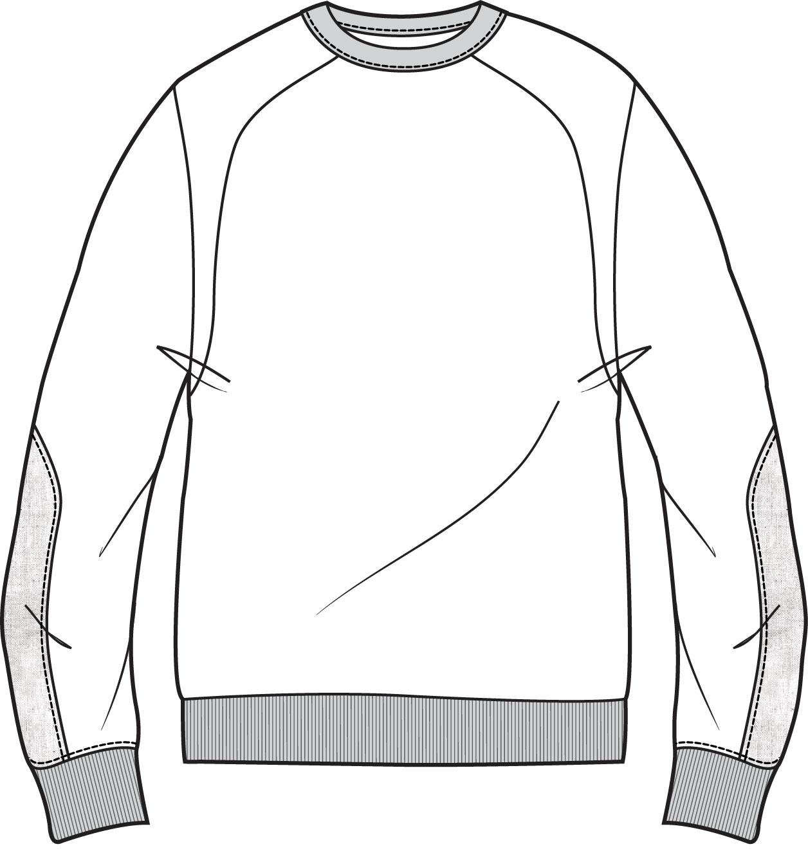 1256x1337 American Fleece Sweat T Shirt With Plastic Fabric On Sleeves