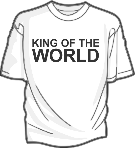 550x600 King Of The World The Self Help T Shirt Blog