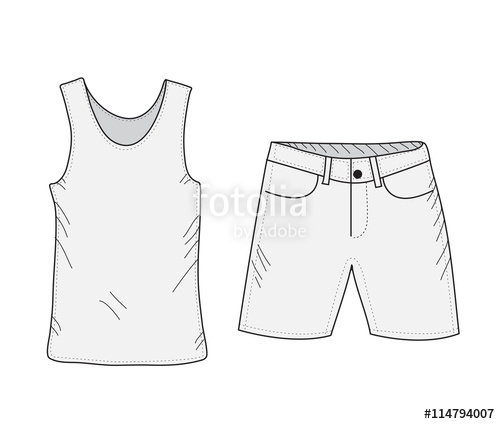 500x424 Clothing Set Sketch. Men's Clothes, Hand Drawing Style. Business