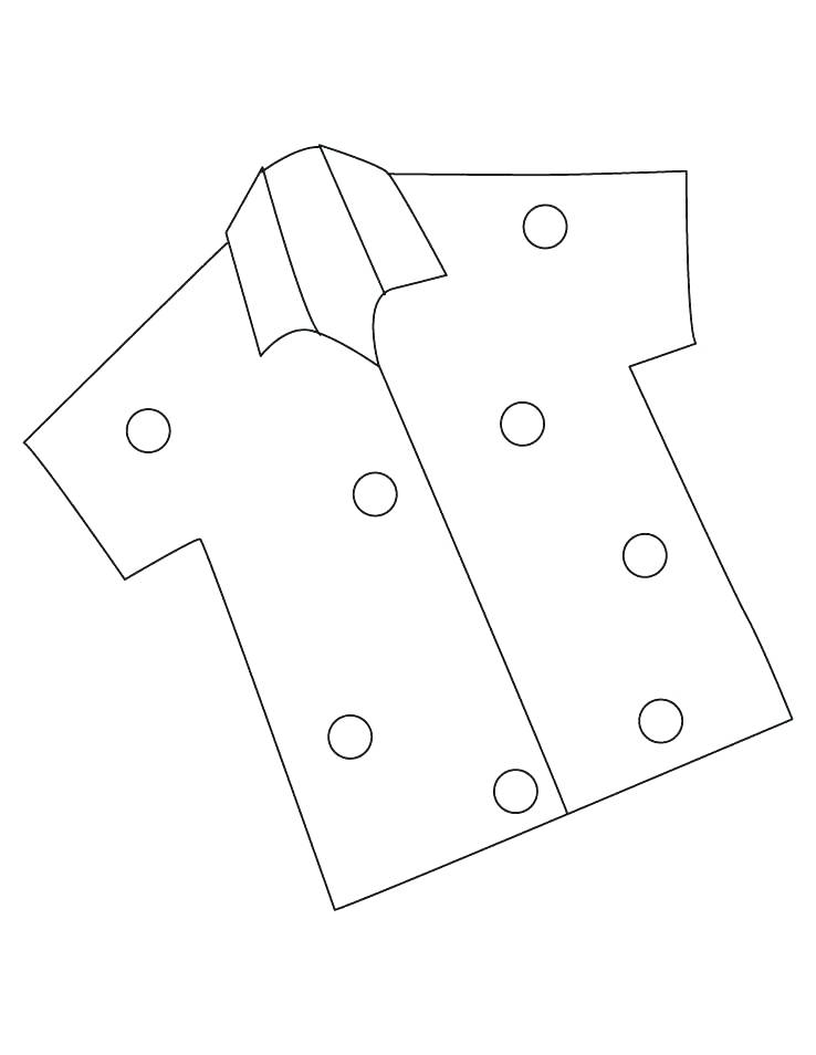 738x954 Shirt Coloring Page T Pages Kids Template Fest Tee Half Download