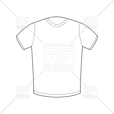 400x400 White T Shirt Template Royalty Free Vector Clip Art Image