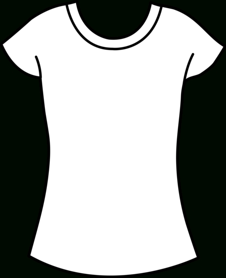 448x550 Women's T Shirt Template Template