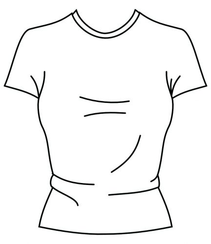 432x500 Coloring Pages ~ T Shirt Coloring Page Best Template On Templates