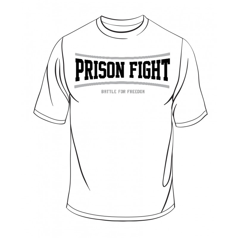 800x800 Prison Fight T Shirt Black