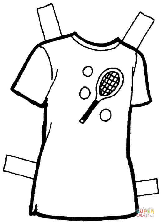 517x720 T Shirt Coloring Page Free Printable Coloring Pages