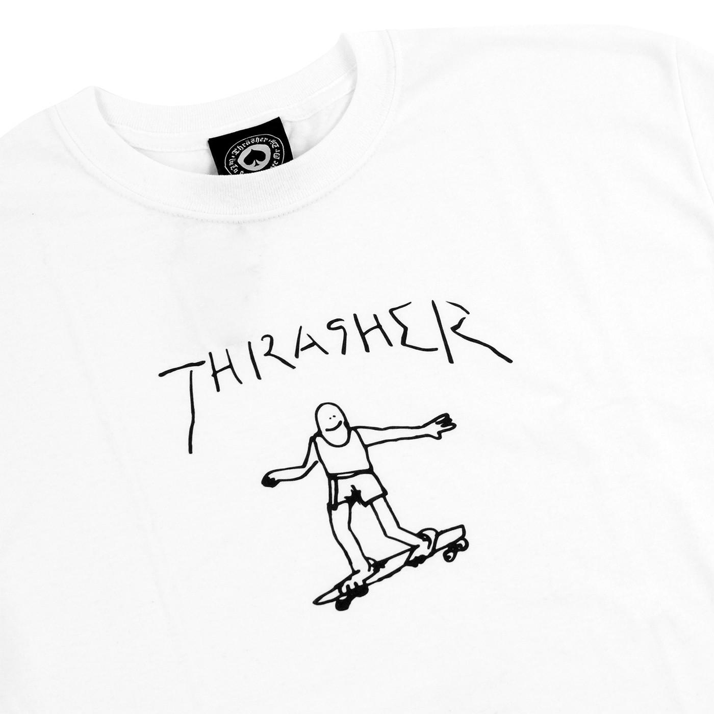 1400x1400 Gonz T Shirt In White By Thrasher