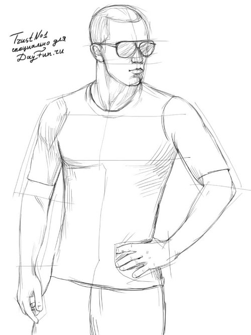500x667 How To Draw A T Shirt Step By Step