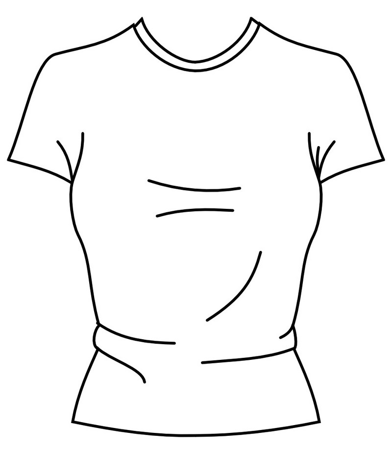800x926 Blank T Shirt Coloring Pages
