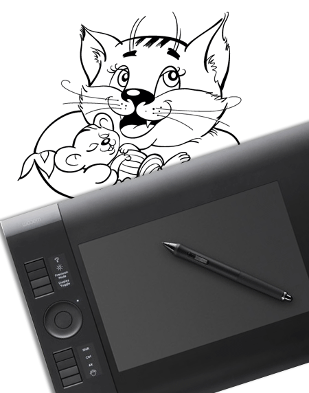 450x572 Vector Drawing With A Graphic Tablet (Part 1