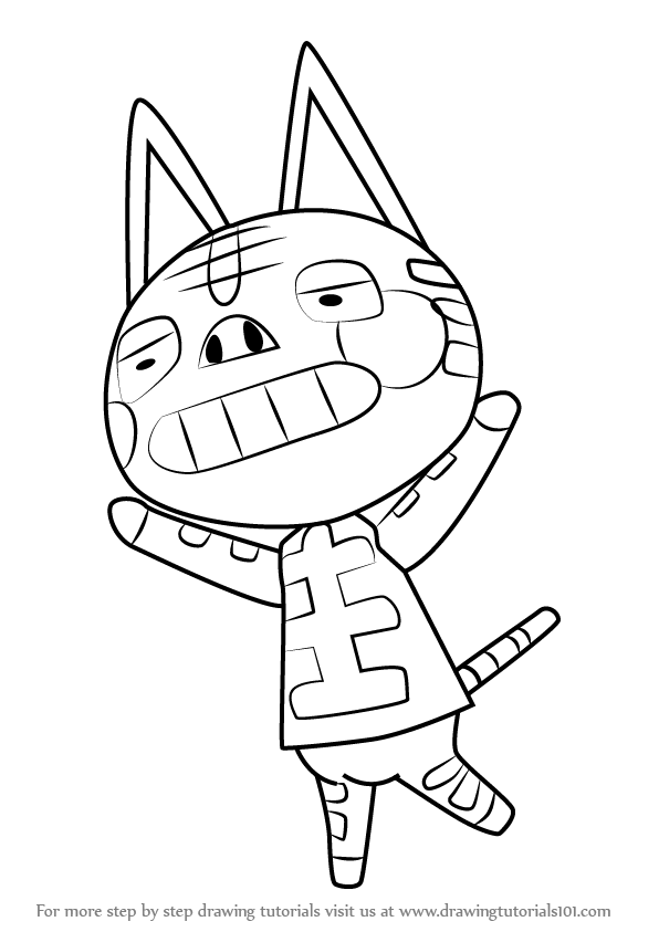 596x843 Learn How To Draw Tabby From Animal Crossing (Animal Crossing