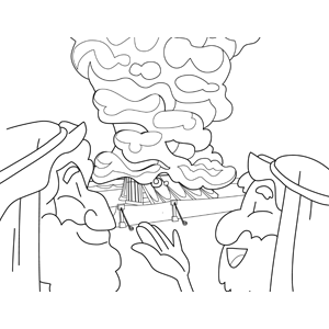 300x300 The Cloud Above Tabernacle Coloring Page