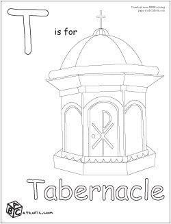 250x327 Catholic Tabernacle Coloring Pages By Barbara Education
