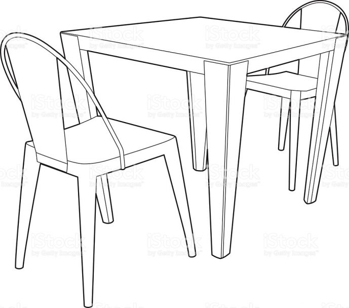 Merveilleux 689x608 Dining Table And Chairs Drawing Tags Dining Table Drawing