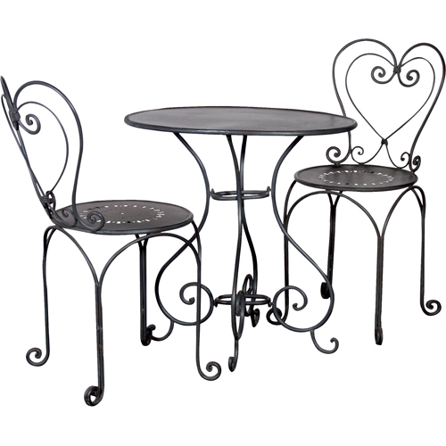 furniture tempered and bistro chair iron saen piece set table chairs photos metal folding