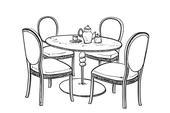 580x386 Home Design Endearing Dining Table Drawing How To Draw A