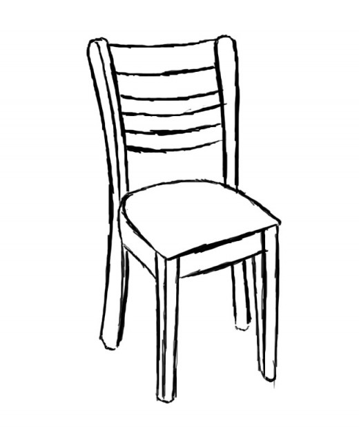 520x621 How To Draw A Chair Feltmagnet