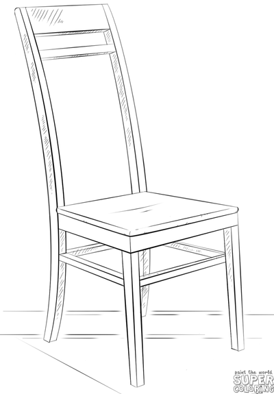 400x575 How To Draw A Chair Step By Step Drawing Tutorials Warmup