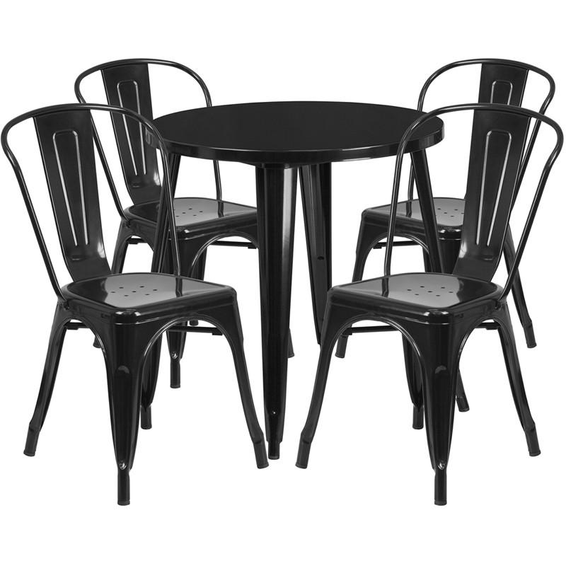 800x800 Tbd5005 Metal In Outdoor Round Table Set With 4 Stack Chairs 30 8