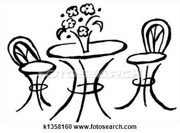 350x259 Cafe Table Clip Art Clipart
