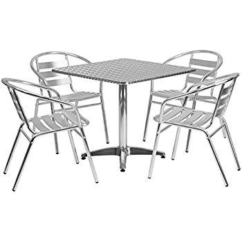 350x350 Flash Furniture 31.5'' Round Aluminum Indoor Outdoor