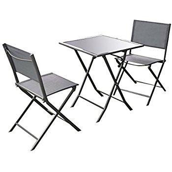 350x350 Giantex 3 Pcs Bistro Set Garden Backyard Table Chairs