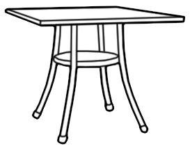 273x220 Cordoba Outdoor Square Bistro Table Lloyd Loom