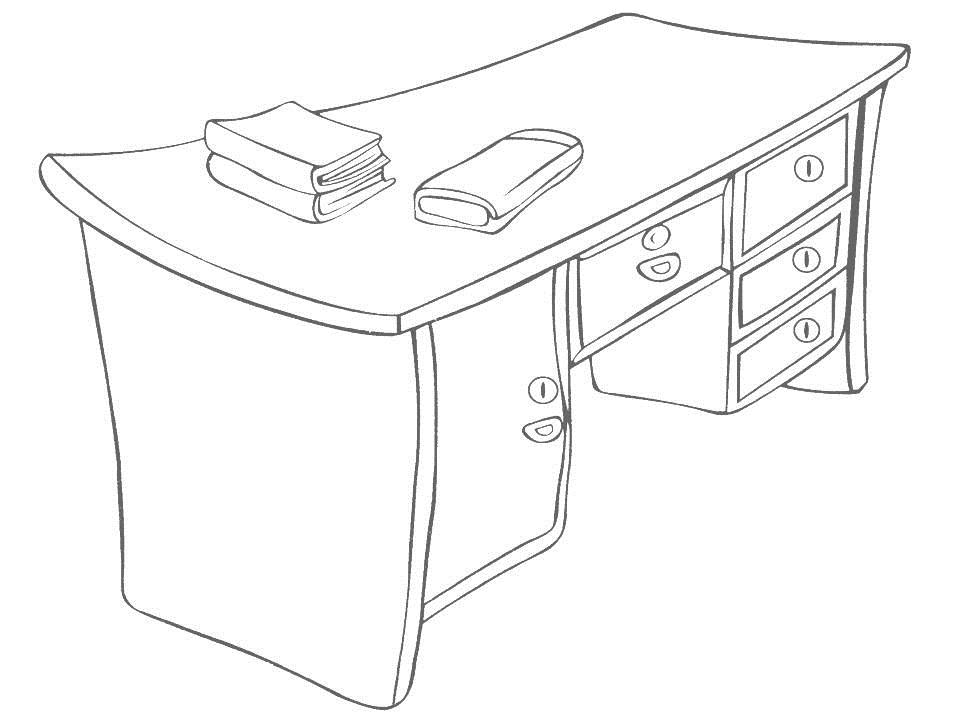 Desk coloring pages ~ Table Drawing at GetDrawings.com | Free for personal use ...
