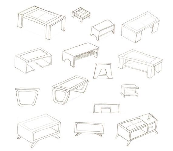 570x500 Multifunctional Coffee Table Bespoke Furniture Design