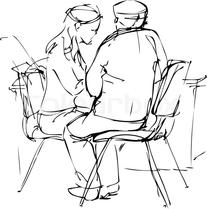 794x800 Sketch A Fellow And Girl Are
