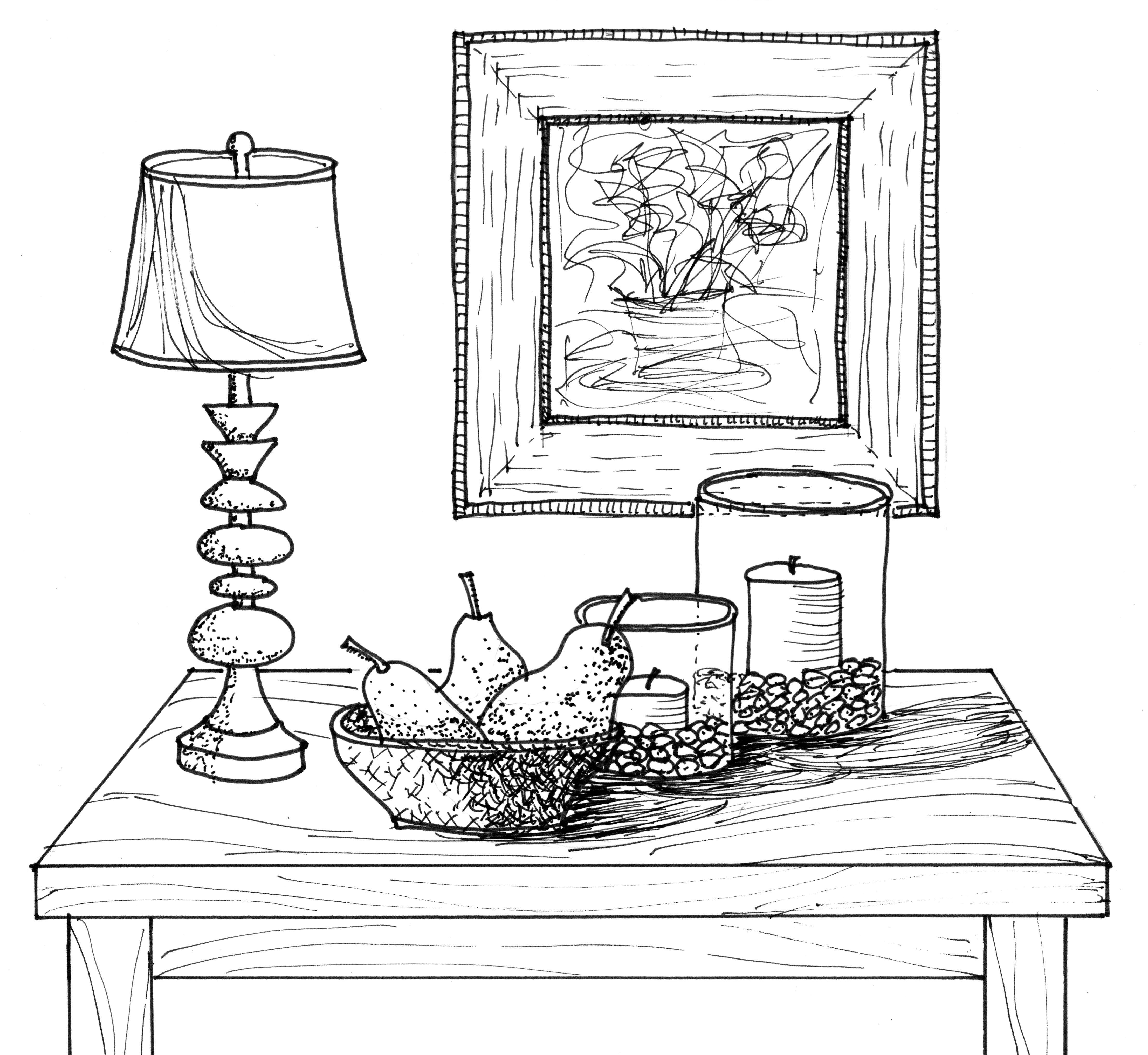 table lamp drawing at getdrawings com