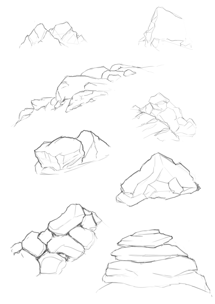 707x1000 Ever Had Trouble Drawing Rocks And Boulders With A Few Focused