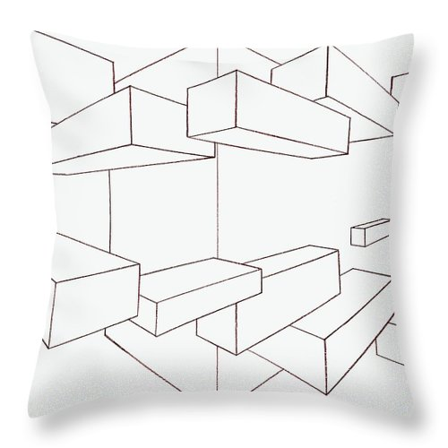 500x500 2 Point Perspective Drawing Throw Pillow For Sale By Gregory Dean