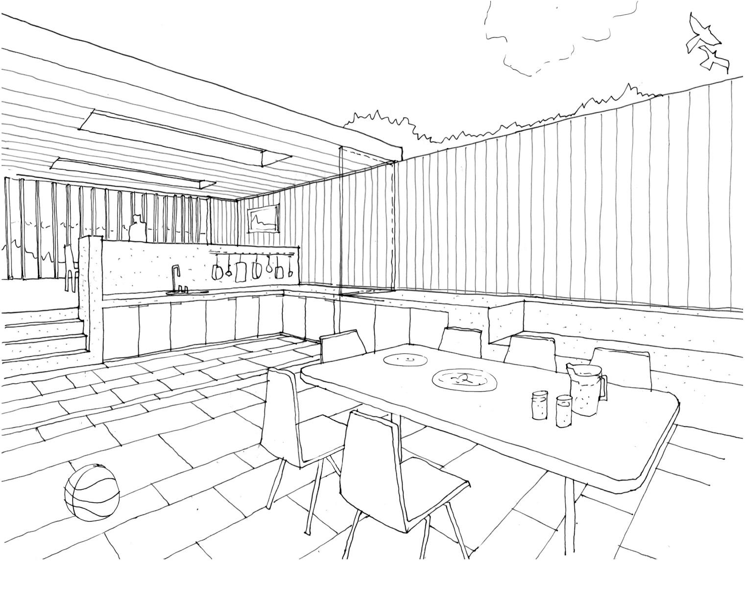 1521x1245 Inspiring Dining Room Drawing Ideas