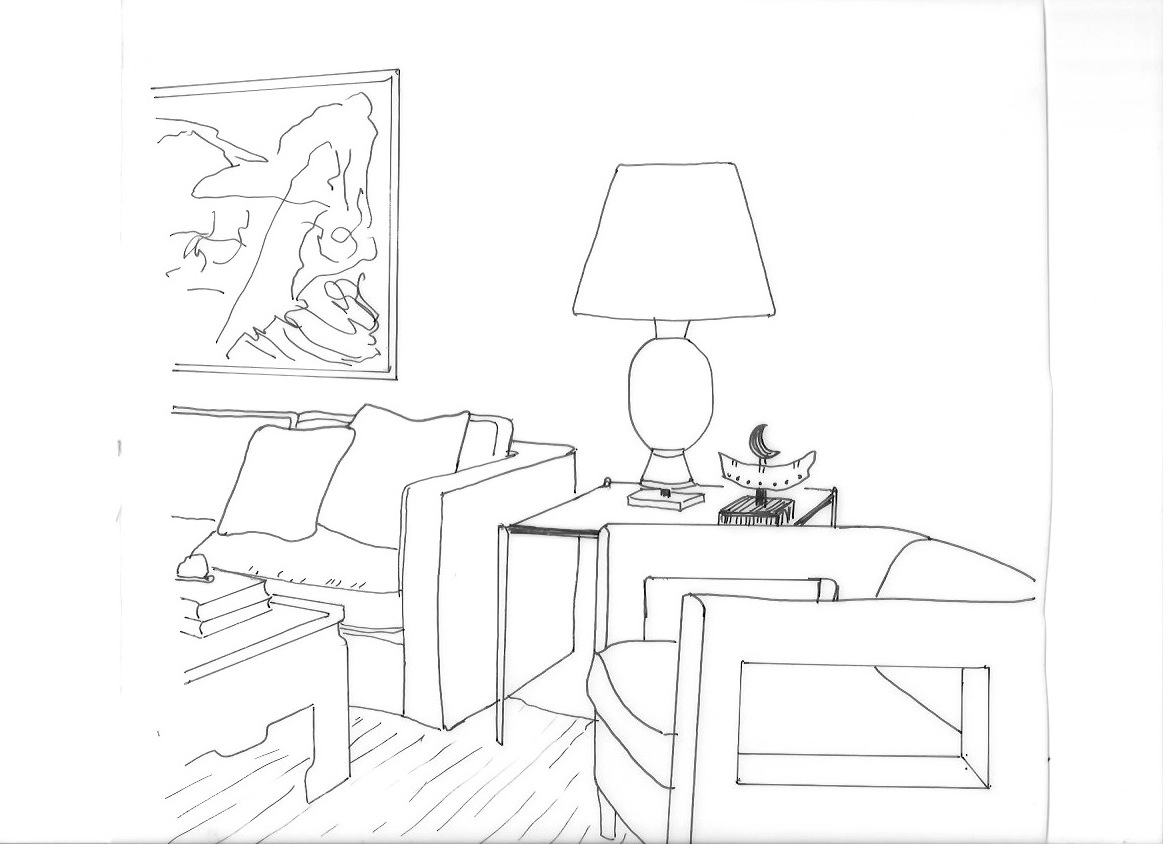 1163x844 Living Room Living Room Drawing Step By Dentyne Perspective