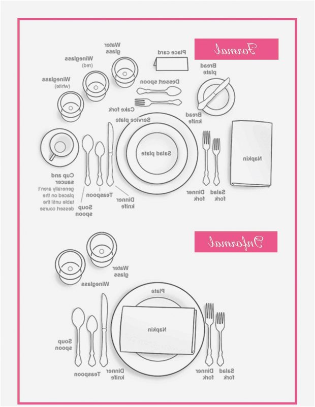620x802 Informal Table Setting Beautiful Design Traditional Place Diagram
