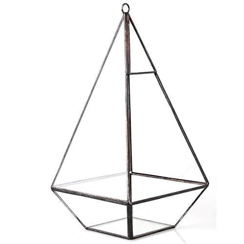500x500 Hanging Modern Pyramid Glass Geometric Terrarium Indoor Tabletop