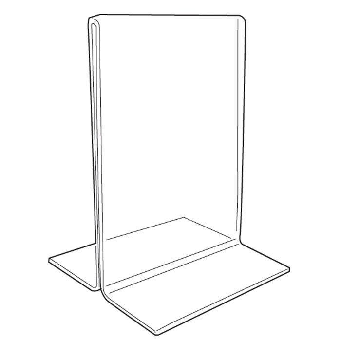 700x700 Tabletop Sign Holders Clear Acrylic Sign Holder