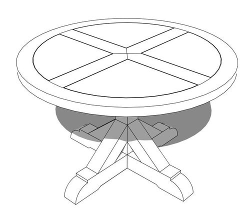 500x442 Attaching A Thick Border To A Round Table Top
