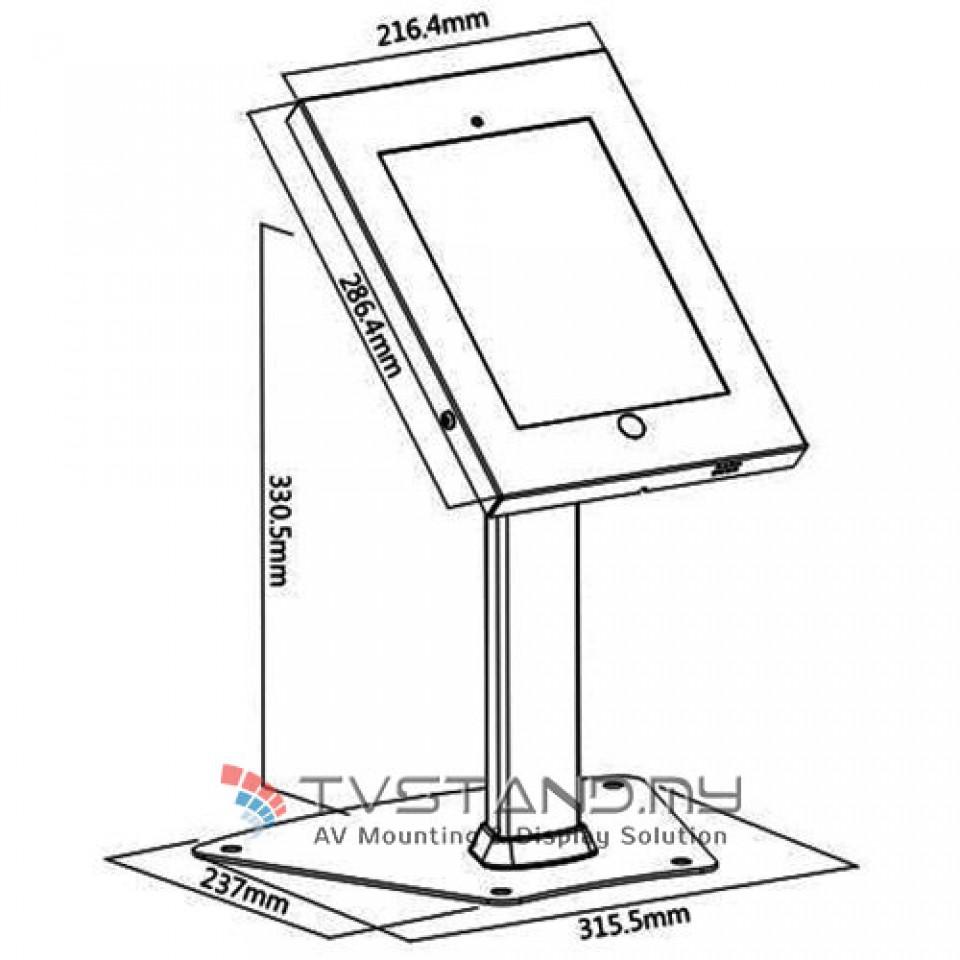960x960 Theft Metal Samsung Tablet Desk Stand Tspad12 04a Blk