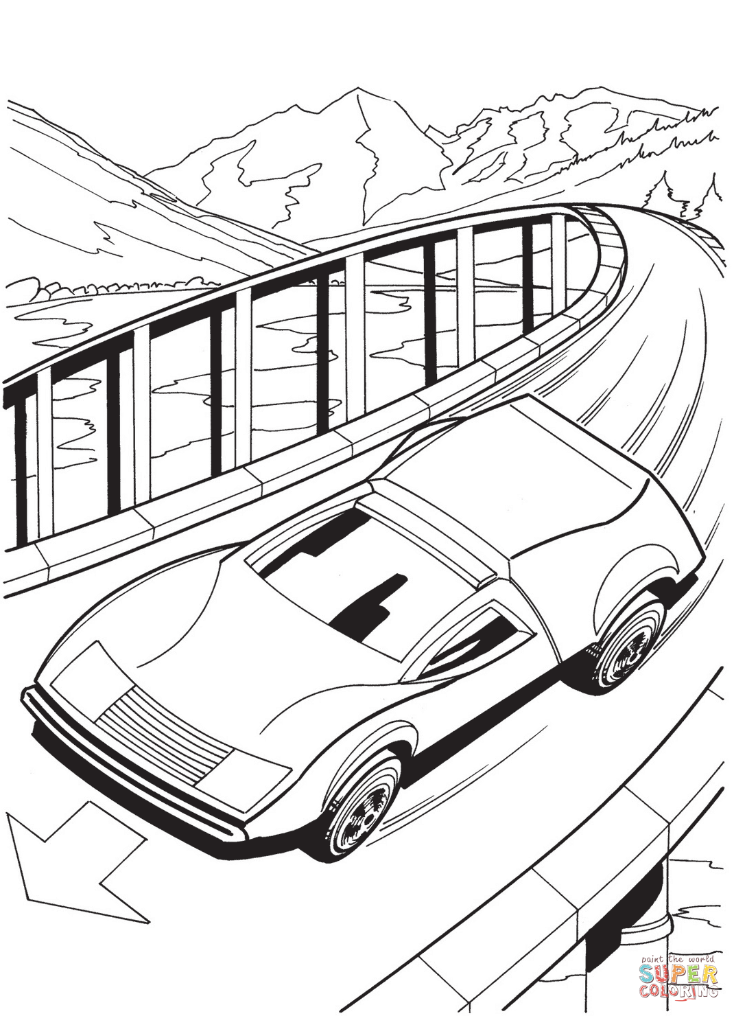 1070x1480 Hot Wheels Coloring Page Free Printable Pages